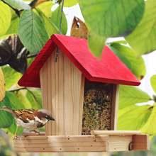 кормушка для птиц Кормушка деревянная подвесная птица контейнер