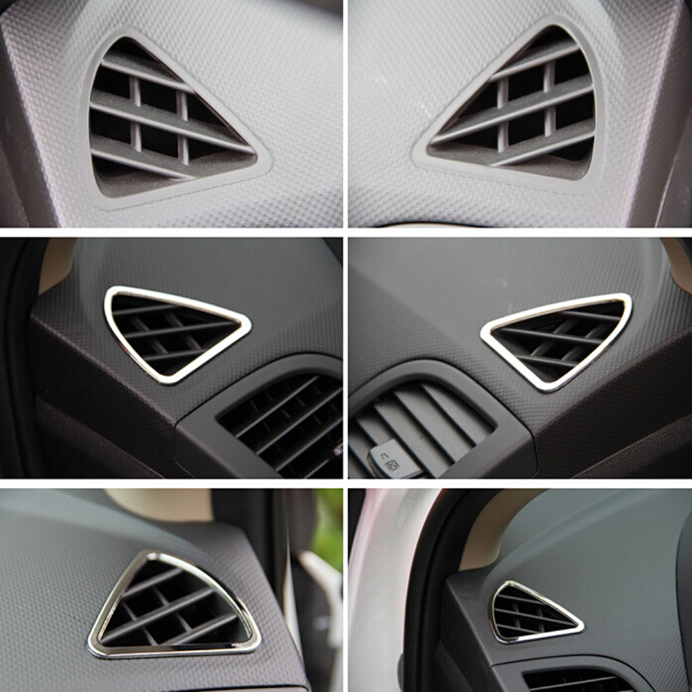 Image 5 - 6 Pcs/set new design ABS chrome interior Air outlet decoration ring for Hyundai Solaris Verna accent sedan hatchback 2011 2015-in Car Stickers from Automobiles & Motorcycles