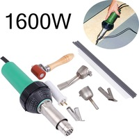 (Ship from UK) 1600W Hot Air Torch Plastic Welder Welding Heat Gun Pistol Kit w/ Nozzle Roller