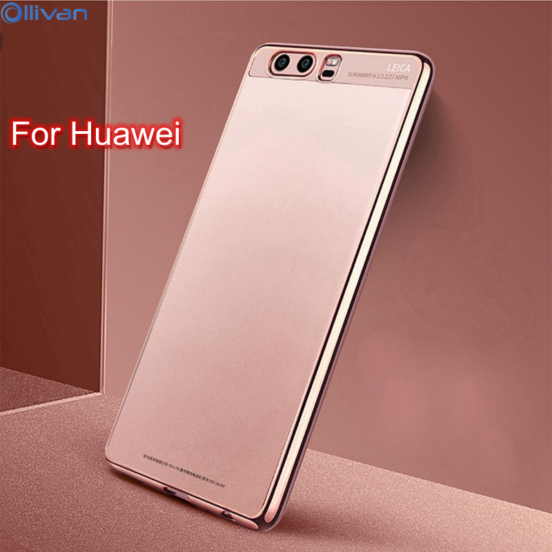 OLLIVAN For Huawei P10 Plus Mate 10 Case Silicone Plating 360 Degree For Huawei P10 P8 Lite 2017 Honor 6C Pro V9 Play Enjoy 6s