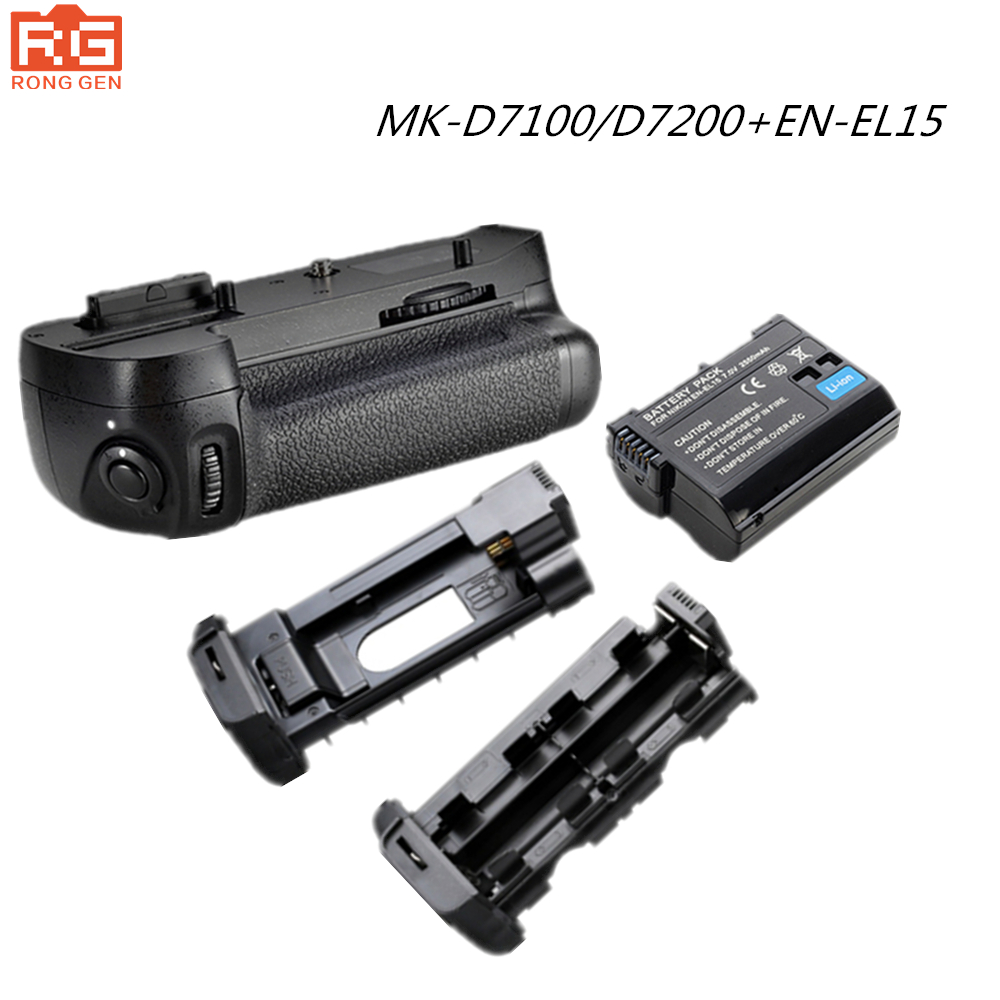 100 Original Meike Vertical Battery Grip for Nikon D7200 D7100 1pcs Rechargeable Li ion Batteries as