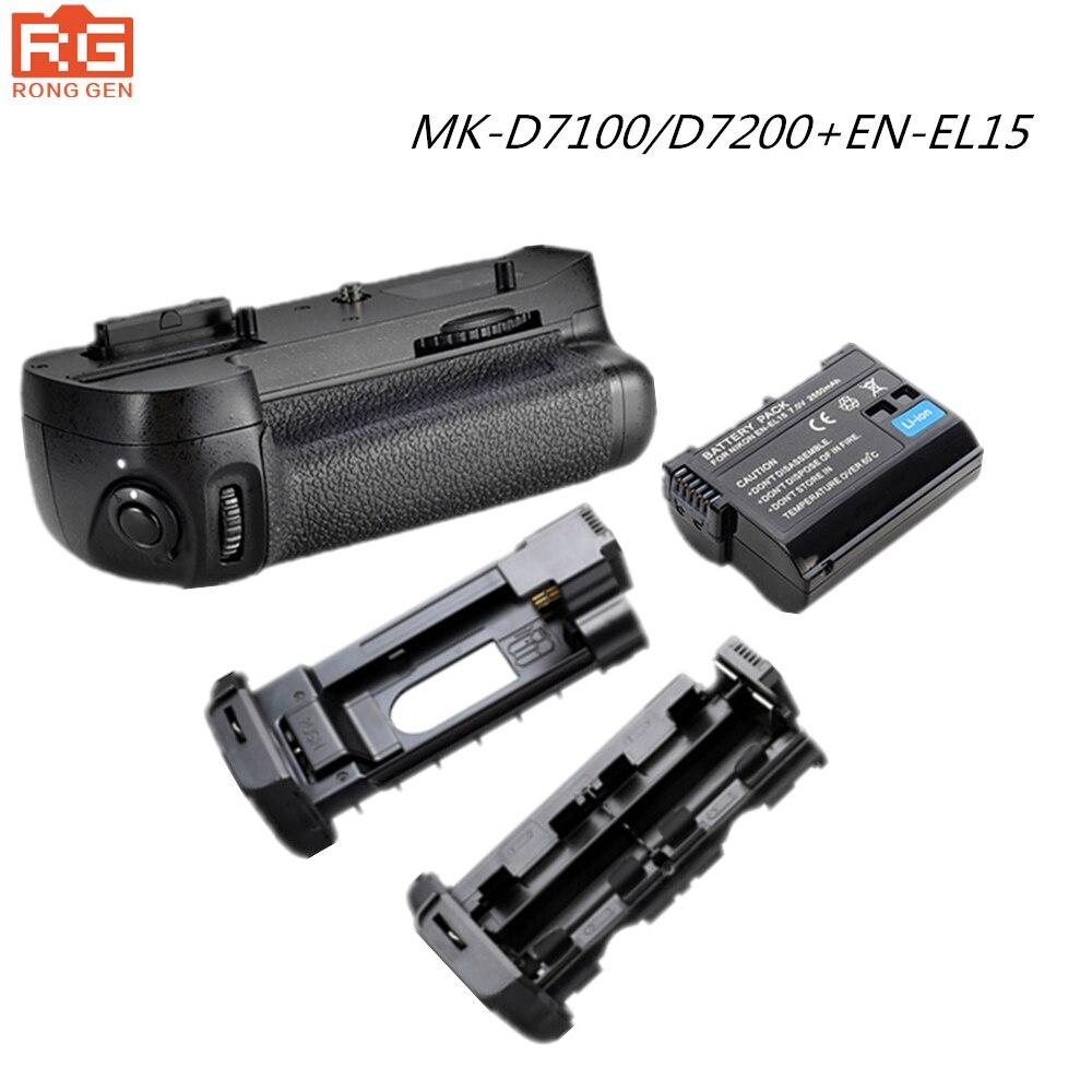 100% D'origine Meike Poignée De Batterie Verticale pour Nikon D7200 D7100 + 1 pièces Batteries Li-ion Rechargeables comme EN-EL15 017210