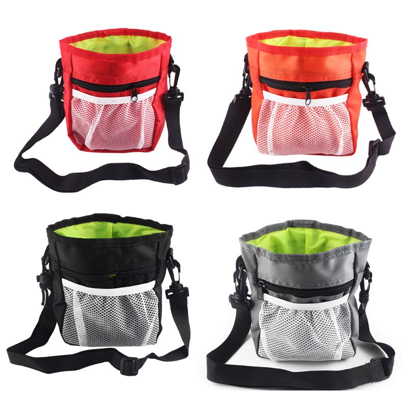 Detachable Pet Training Treat Drawstring Snack Bag Dog Pouch Feed Pocket Waist Shoulder Bags