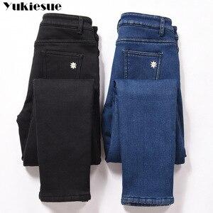 Image 5 - חורף ג ינס נקבה גבוהה מותן ינס סקיני חם עבה ג ינס לנשים Mujer בתוספת גודל קטיפה מכנסיים למתוח Pantalon Femme