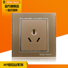 16A 250V Socket Switch Panel Luxury Brushed Gold Electric AC Power Outlet Panel Plate for Air Conditioning Socket AU Standard стоимость