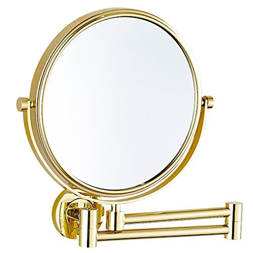 Gurun 8 Inch 10X magnifying Makeup Mirror double reversible Wall Mounted cosmetic Mirror compact mirror blank Free ship M1305J makeup mirror with 16 leds 10x magnifying portable desktop travel mirror wall suction mounted 360 degree rotation round mirror