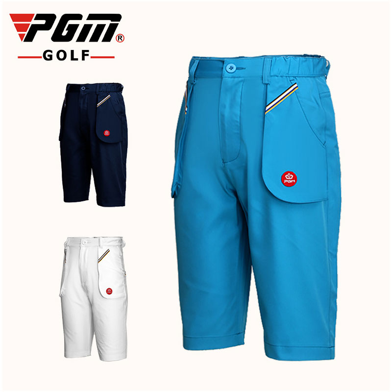 Pgm Child Boys Comfortable Shorts Outdoor Kids Breathable Golf Short Baby Sportswear Trousers Summer Golf Apparel D0359