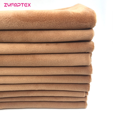 Brown Plush-Fabric Soft Polyester Cheapest ZYFMPTEX for Toys Blanket Home DIY 8pcs/Lot