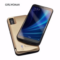 GIRLWOMAN Charger Case Bracket Stand Case for Xiaomi Mi A2 6000mah Back Clip Battery Wireless Fast Charger for Xiaomi Mi 6x Case