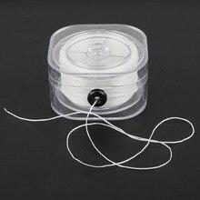 Прозрачный растягивающийся шнур с прозрачными круглыми бусинами, диаметр 0,2/0,6/0,8/1,0 мм