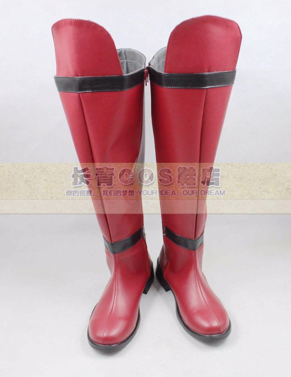 Devil Kings Sanada Yukimura cosplay Shoes Boots Custom Made 9394