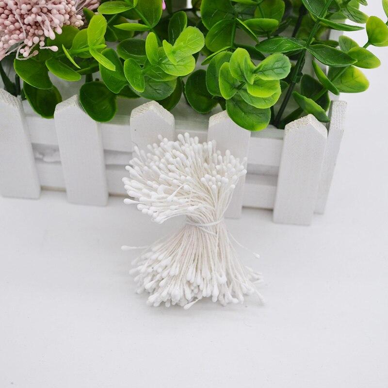 400 шт./лот 1 мм Мини Stamen искусственный цветок Stamen стволовых двойной головок DIY Скрапбукинг Аксессуары Свадебная вечеринка украшения