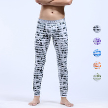 Hot New Fashion Mix Colors Winter Warm Men's Sexy cotton long johns slim thin thermal underwear Soft Thermal Pants