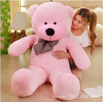 Giant Colorful big size huge Teddy Bear With Bow tie Plush Stuffed Gift Girls Toys Wedding And Birthday Party Decoration