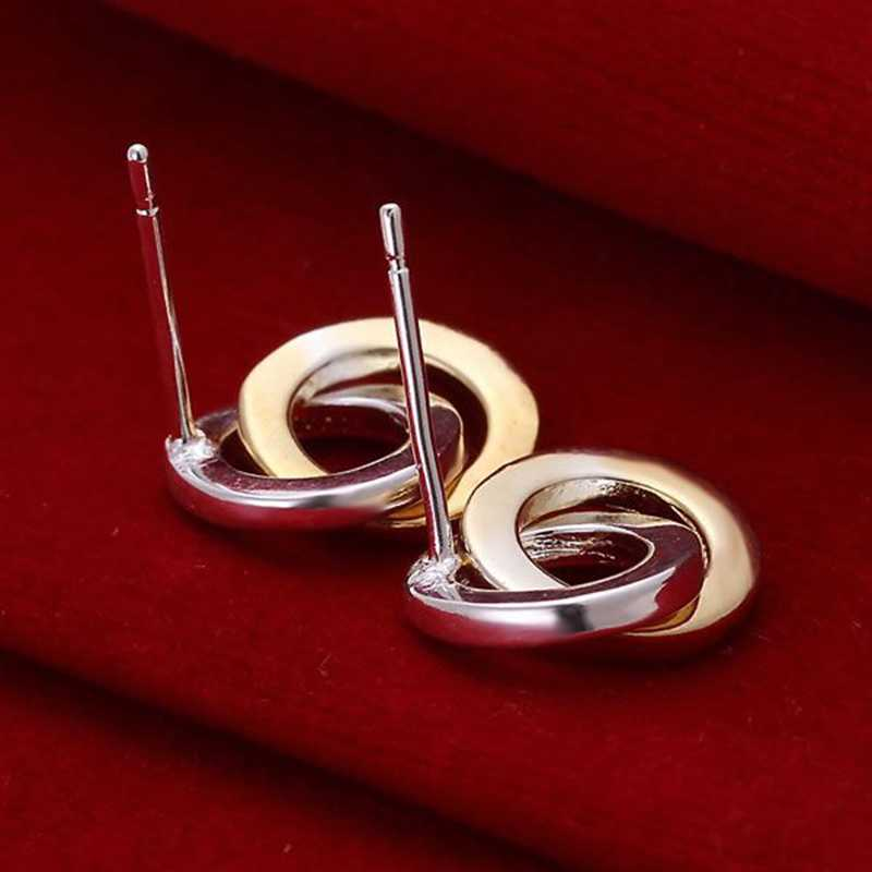 แฟชั่นเครื่องประดับสำหรับผู้หญิง, 925 เงินแหวนคู่ต่างหู E068/XTBUJOLFE068 DWSNYKFP