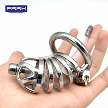 цена на FRRK 304 Stainless Steel Chastity Device cock cages Male Chastity Belt Openwork Cock Cage Metal steel  Penis Ring Sex shop