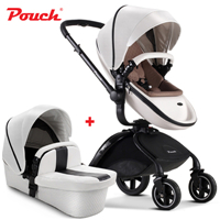 Pouch baby strollers 3 in 1 baby car folding light baby stroller with car seat and baby bassinet gifts original hot mum baby strollers 2 in 1 bb car folding light baby carriage six free gifts send rain cover