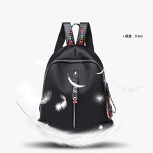 New arrival Wholesale 2019 High quality Women Backpack Leisure bag Vintage Canvas Female Bookbag Mochila Drop shopping