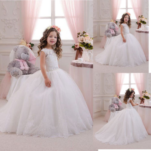 купить NEW Communion Party Prom Princess Pageant Bridesmaid Wedding Flower Girl Dress дешево