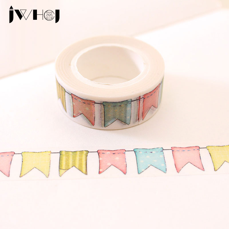 1 x jwhcj colour flag washi tape diy decoration. Black Bedroom Furniture Sets. Home Design Ideas