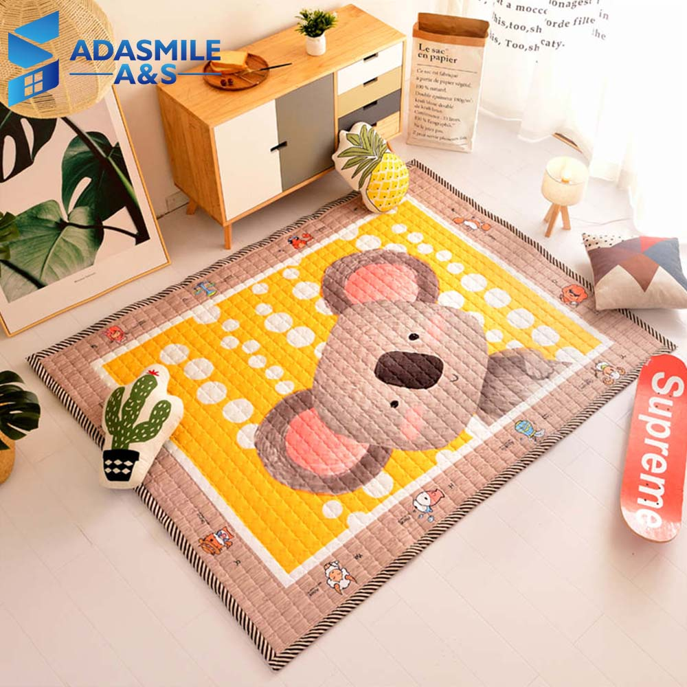 Cartoon Lovely Bear Rug And Carpet Thick Lattice Quilted Area Rug Bedroom Home Living Room Kids Room Crawling Play Mat CarpetsCartoon Lovely Bear Rug And Carpet Thick Lattice Quilted Area Rug Bedroom Home Living Room Kids Room Crawling Play Mat Carpets