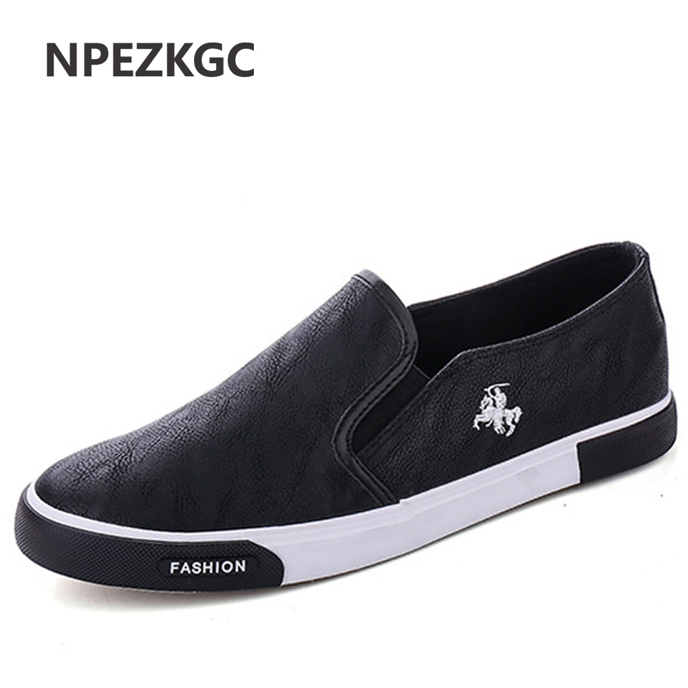 NPEZKGC 2018 Fashion Mens Shoes Outdoor Men loafers Walking Shoes Men Casual Shoes Men PU Leather Shoes For Men Flats 2017 autumn fashion men pu shoes slip on black shoes casual loafers mens moccasins soft shoes male walking flats pu footwear