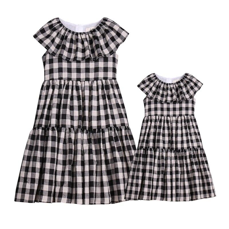 Enfants vêtements XL femmes dame famille correspondant vêtements mère et fille robes gilet jupe rétro un bébé infantile enfants maman filles