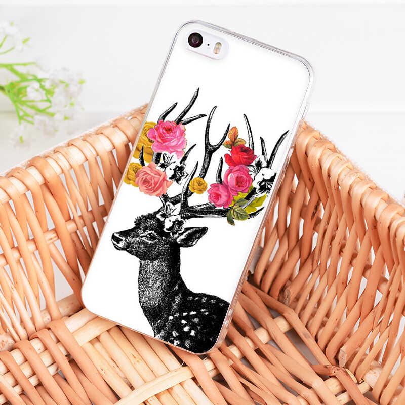 MaiYaCa Para iphone X XR XS MAX Adorável Cervos Dos Desenhos Animados Animais Veado Raposa Ouriço PhoneCase Para iphone 11 Pro Max 7 8 6 6S Plus 5S SE