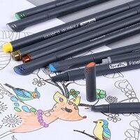 0.38 Mét 12 Màu Sắc Fineliner Bút Siêu Mịn Bút Đánh Dấu Nước dựa Các Loại Mực Nghệ Thuật Vẽ Cho Trẻ Em Graffiti Móc Sợi bút