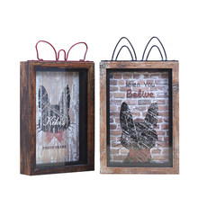 Modern Photo Frame Wooden Cat Pattern Wedding Pictures Frames Creative Cat Ear porta retrato Home Decoration cadre photo Frames(China)