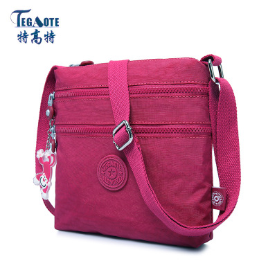 TEGAOTE Famous Brand Solid Nylon Bag Casual Messenger Bags Monkey Female Shoulder Handbag Waterproof  Beach Bag Sac A Main tegaote beach bag female bags handbags women famous brand nylon messenger crossbody shoulder bag bolsa feminina sac a main 2017