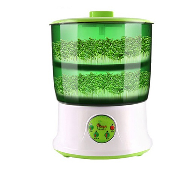 110V 220V Household Electric Bean Sprouts Machine Intelligent Bean Sprouts Machine 2 Layers Automatic Bean Sprout Maker