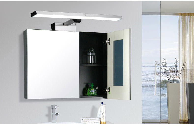 New Bathroom Mirror Lights Cabinet Front Light Long Thick Led Flexible Waterproof Fog Miror Lamp Aluminium In Indoor Wall Lamps From