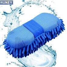 Чистящая Щетка для покрытия воском для Ford Focus Kia Rio, моющаяся губка для мытья перчаток, прокладка из синельной пены для мытья полотенец