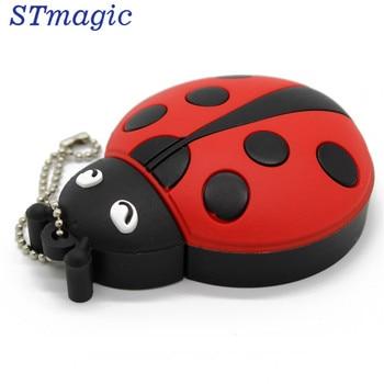 STmagic cute cartoonAnimal ladybugs usb 4GB 8GB 16GB 32GB 64GB pendrive USB Flash Drive creative gifty Stick Pendrive