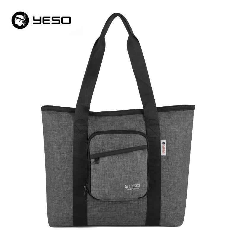 affecb0dd4 YESO Multifunction Folding Bag For Women New Large Capacity Portable Handbag  Fashion Casual Folding Bags For