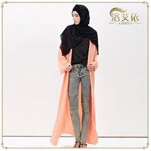 Muslim women dress 6 Color cardigan robe musulmane Dubai Turkish Ladies Clothing Women Arab Ladies Caftan Kaftan Malaysia Abayas