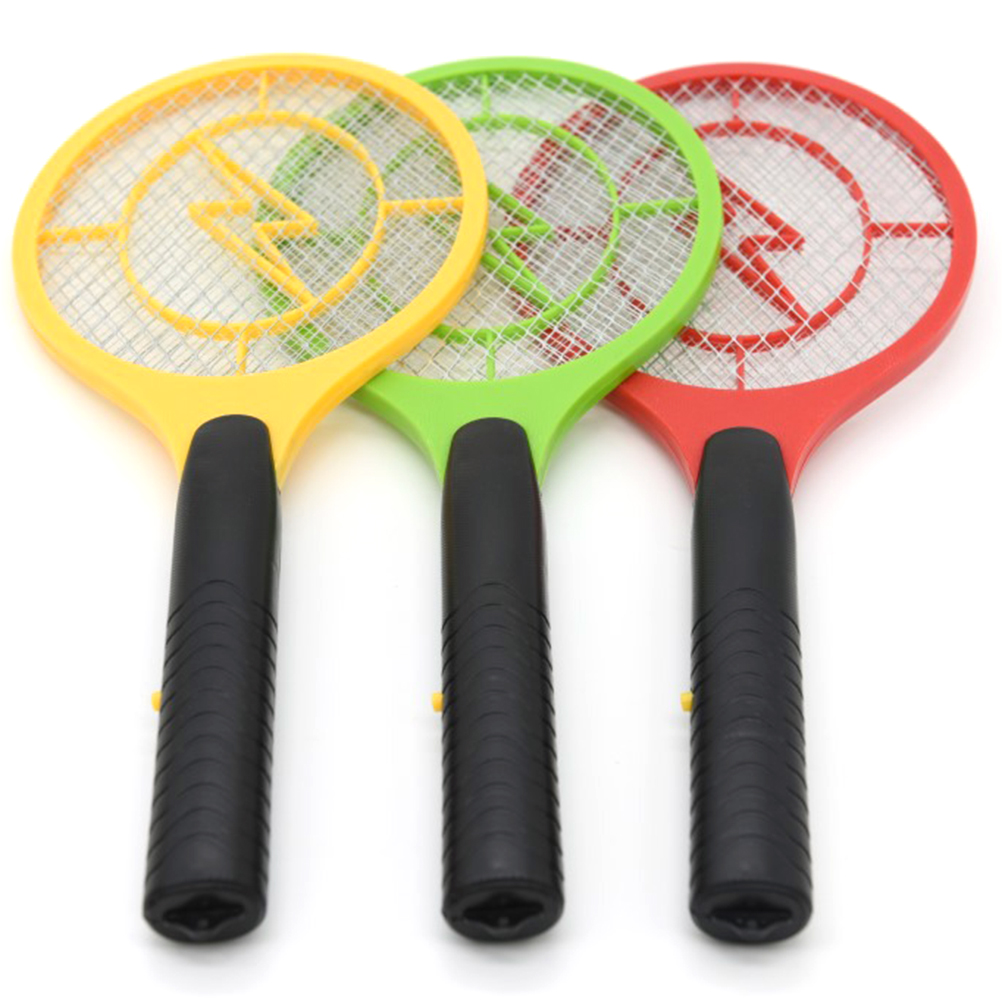 Random Color OUNONA Fly Swatter Plastic Fly Swatter With Long Handle 2/Pieces