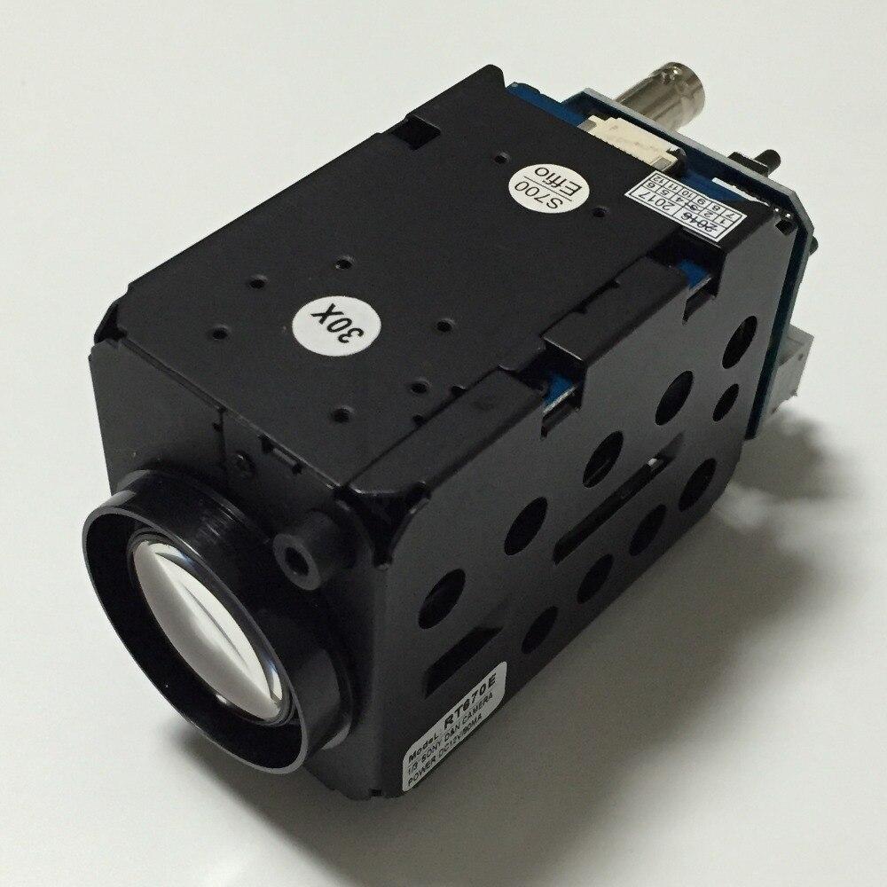 NOUVEAU CCTV COMS HD AHD 1200TVL 30x Zoom Optique boîte Caméra Anolog Caméra/AHD Caméra (modo opcional)