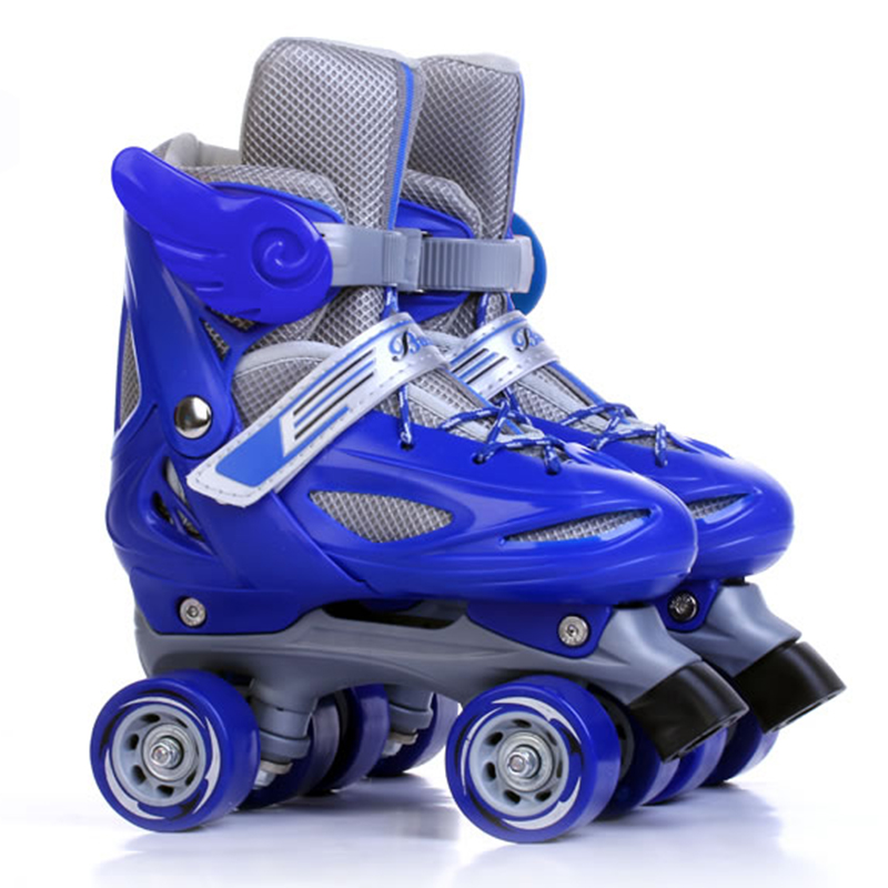 Two Line Roller Skate Shoes Children Adjustable Double Row Skating Patins Shoes Gift For Kids or Teenagers Four Wheels IB0301 children adult parenting two line roller shoes skating 4 wheels double row skates patins kids pu wheels adjustable unisex ib42