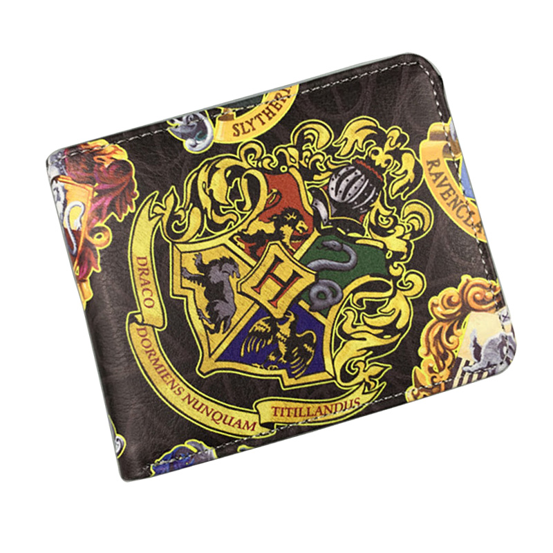 Cartoon Anime Harry Potter Wallets PU Leather Short Purse Card Holder Bags Gift Teenager Students Kids Animation Wallet new anime wallets walking dead character leather purse gift for teenager students dollar card money bags casual short wallet