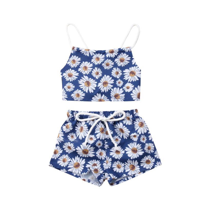 Adorable Girls Clothes Set Cotton Baby Clothing Set Floral Clothing Sleeveless Crop Tops Shorts Pants Baby Toddler Outfits 0-24M
