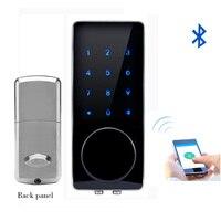 Bluetooth Electronic Door Lock APP Control  Password  Mechanical Key Touch Screen Keypad Digital Code Lock Smart Phone lk110BSAP|digital code|lock smart|code lock -