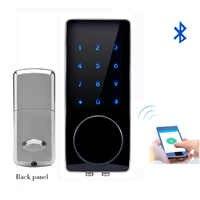 Bluetooth Elektronische Türschloss APP Control, Passwort, Mechanische Schlüssel Touchscreen Tastatur Digitale Code Lock Smart Telefon lk110BSAP