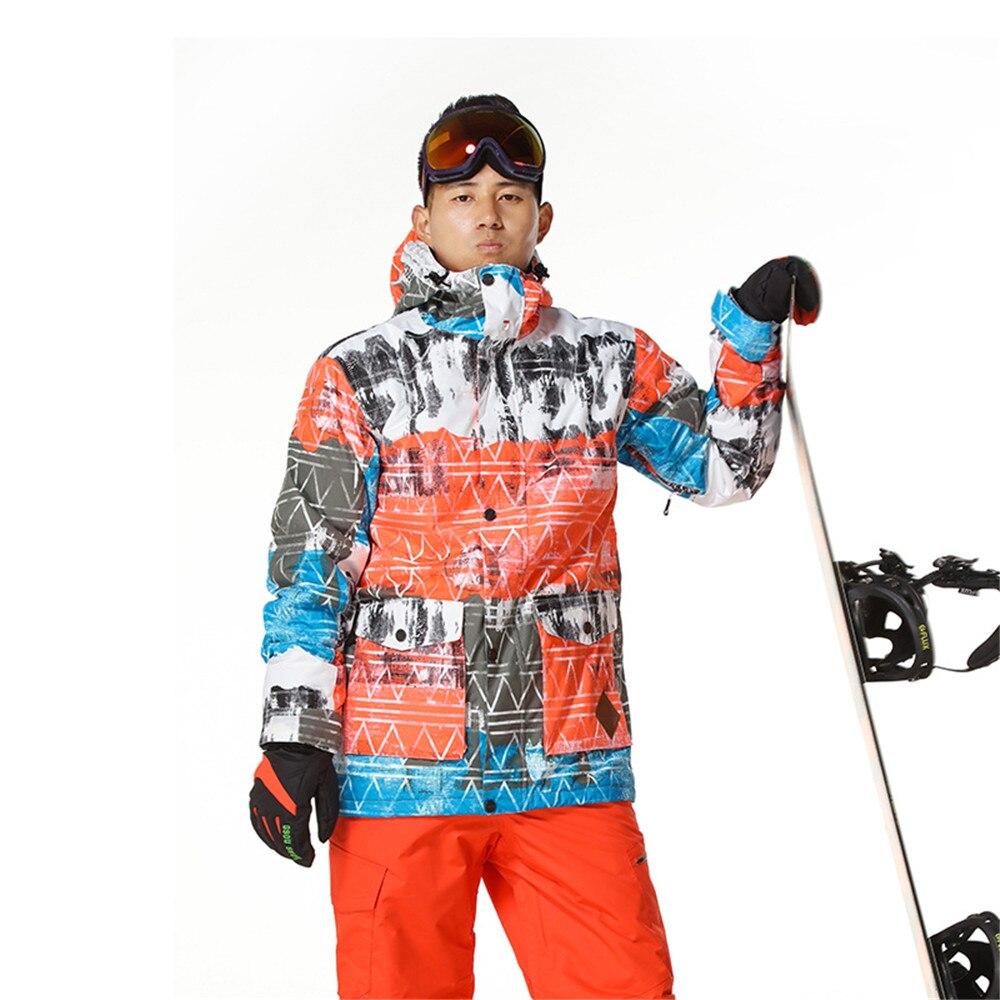 Veste de Ski homme veste de Snowboard imperméable respirant thermique hiver neige manteaux extérieur Ski de montagne veste de sport