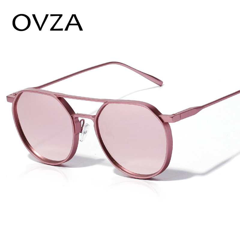 9ae725c7e67 OVZA Punk Gothic Sun glasses for men Fashion Woman 2018 Sunglasses Designed  Glasses Pink Oval Metal Eyewear S9091-in Sunglasses from Apparel  Accessories on ...
