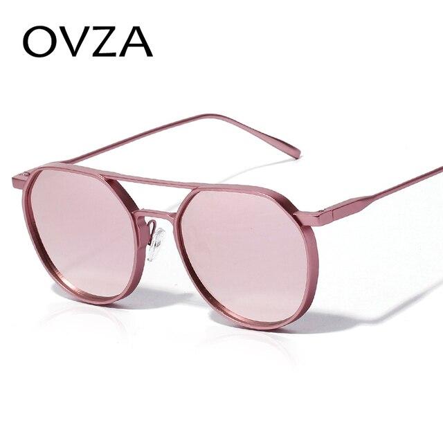 rivenditore online 574b7 abac6 US $8.62 51% di SCONTO|OVZA Punk Gotico occhiali da Sole per gli uomini di  Moda Donna 2018 Occhiali Da Sole Progettato Occhiali Rosa Ovale In Metallo  ...