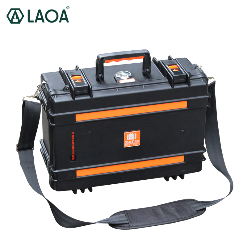 LAOA Instrument Safety Box Waterproof With Wheel Case Trolley Case Instrument Shockproof Toolbox