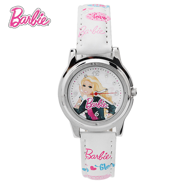 100% Genuine Barbie Children Cartoon Watch Brand Casual Quartz watches Kids Wristwatches For Girls Birthday Gift BA00104-1