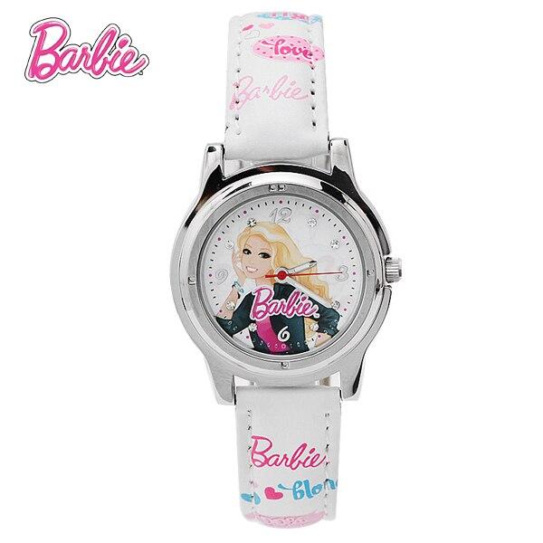 100% Genuine Barbie Children Cartoon Watch Brand Casual Quartz watches Kids Wristwatches For Girls Birthday Gift BA00104-1